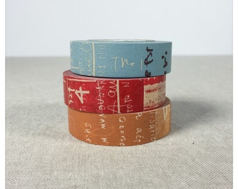 PRE ORDER: (Aug or earlier delivery) Graffiti B Pattern Washi Tape 3pk - Classiky