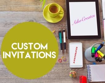Custom invitations - digital