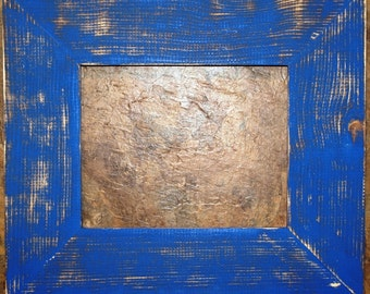 "F002 3-1/2"" UK Blue Distressed Picture Frame"