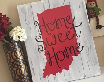 Indiana Home Canvas