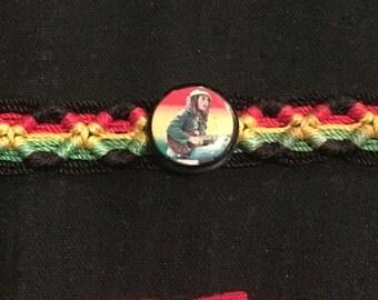 Bob Marley Macrame Woven Bracelet