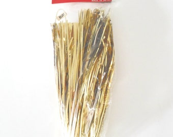 4 Japan Tinsel Starburst Christmas Novelty Gold Foil Hanging Decorations New in Package