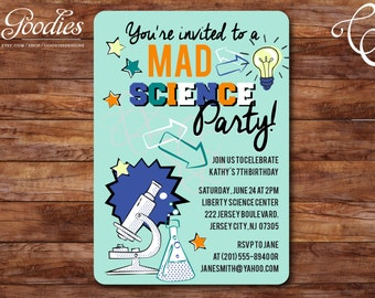 Mad Science Party Invitation