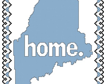 Home is Where the Heart Is - Maine Cross Stitch Pattern