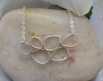 Bubble Necklace, Sterling Silver, Jewelry
