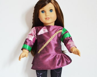 "Handmade Doll Clothes Descendants Mal Costume fits 18"" American Girl Dolls"