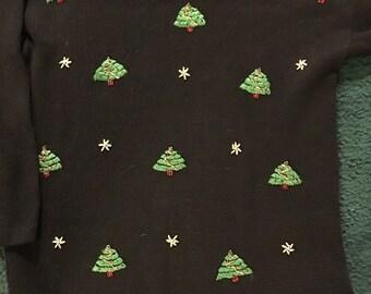 Upscale Vintage christmas tunic sweater.  Victoria Jones, sized medium.