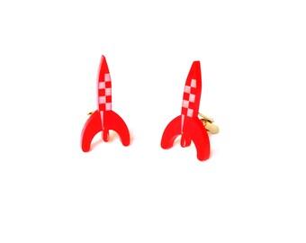Cufflinks rocket Tintin