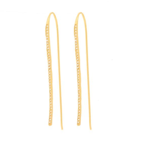 bobby pin earrings