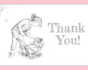 Charlotte's Web Baby Shower / Birthday Thank You