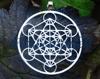 Metatron's Cube pendant (1 3/8 inch) - Stainless Steel