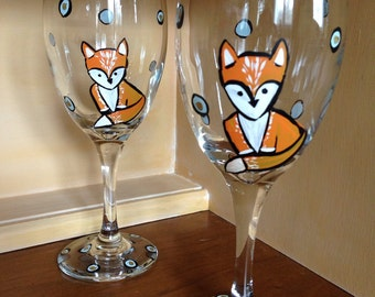 Fox wine glasses