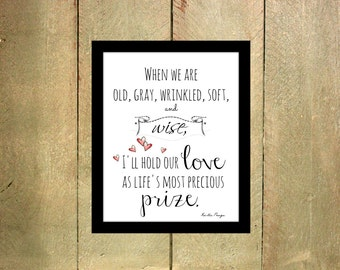 Love Poem // Wall Art // Instant Download // 8x10 Art Print