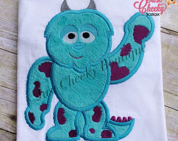 Sulley Cutie Embroidered Shirt - Monster's Ince Inspired - Monster's University - Disney Vacation - 1st Disney Trip - Disney Birthday
