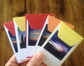 Sunset Insta-notes (set of five)