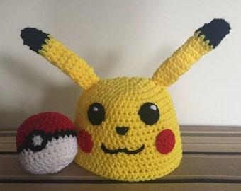 Pikachu Hat w/free Pokeball