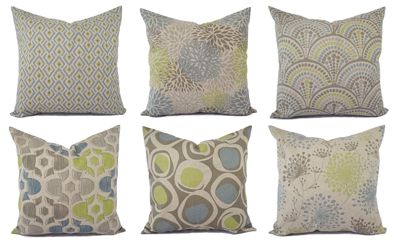 Decorative Pillow Green Blue And Beige Decorative Pillow