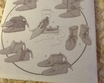 Sewing Pattern Historical Shoes/Boots/Footwear All Sizes Butterick B5233 Seven Views to Make