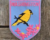 Washington State Vintage Souvenir Travel Patch by Voyager