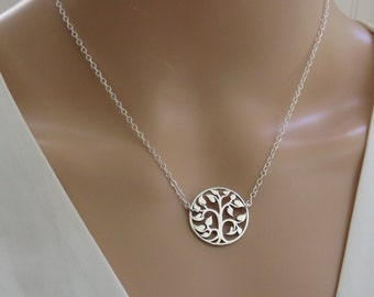 Sterling Silver Tree of Life Necklace, Tree of Life, Silver Tree Necklace, Family Jewelry, MarciaHDesigns, MHD