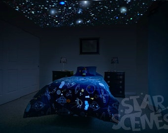 Glow In The Dark Stars Room Idea Diy Star Ceiling By