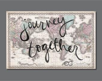 Journey Together Map // DIGITAL DOWNLOAD