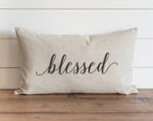 Blessed 16 x 26 Pillow Cover // Fall // Autumn // Thanksgiving // Throw Pillow // Gift for Her // Accent Pillow