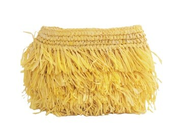 Straw Clutch, Yellow Evening Clutch