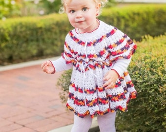 Gorgeous Hand Crocheted cotton yarn dress (size 3T , 4T , 5T )