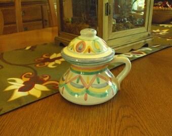 Italian CBK Pastel-Colored Teapot/Tea Mug