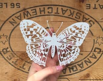 Original Handcut Butterfly Scherenschnitte - Bitterfly Papercut - Whimsical handcut butterfly