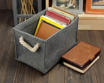 Felt Storage Box Felt Container Storage Bin Living Room Storage Bin  Container Bin Tote Box With Part 68