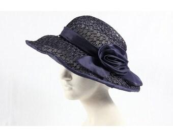 1960s Vintage blue hat