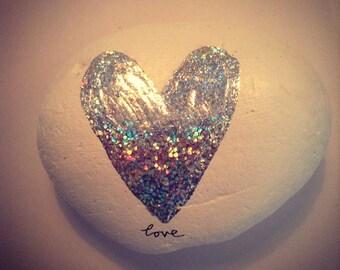Sparkle stone on White 7cm