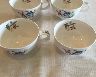 Coffee Cups, Hallcraft, by Eva Zeisel, bouquet pattern