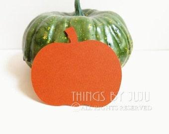 50 Large Die Cut Pumpkins,  Orange Pumpkin Punch, DIY Pumpkin Tag, Halloween or Fall Wedding Pumpkin 2 1/2 x 2 3/4 inches
