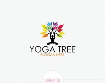 Person - Tree Logo Design Yoga Logo