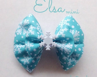 the elsa mini hair bow