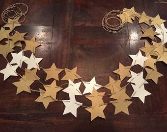 Gold Star Garland, Star Garland, Star Banner, Twinkle Twinkle Little Star Banner