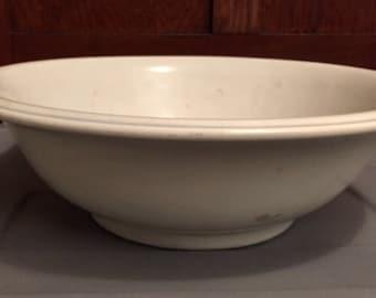 Ironstone Bowl Large Vintage