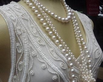 1920s  Charleston Style CreamFlapper Dress