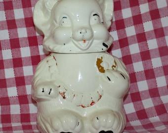 Vintage Royal Ware Teddy Bear Cookie Jar