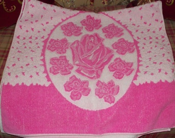 vintage new bath towel made in brazil
