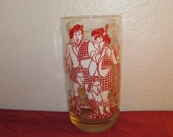 Big Top Peanut Butter Glass AULD LANG SYNE 1950s Hard to Find Hazel Atlas 50s