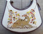 Enid Collins Purse,Collins of Texas Handbag,Enid Collins Jeweled Handbag,Deer Haven Enid Collins,Rhinestone Purse,1970s Deer Purse