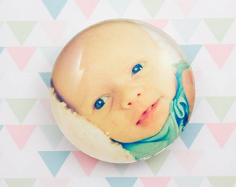 Photo Magnet Personalized Large Circle Glass 38 mm Custom Magnet