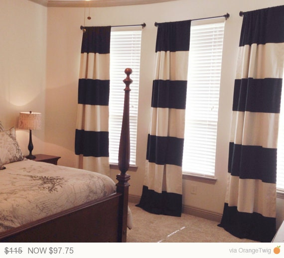 15 Off Yeah Custom Black And Cream Striped By Frostinghomedecor