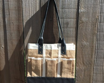 One of a kind- Jute Garden Bag