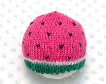 Watermelon Hat - Watermelon Baby Hat - Watermelon Baby Beanie - Watermelon Newborn Hat - Summer Baby Hat