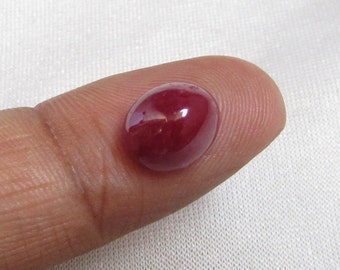 6CTS NATURAL RUBY CABOCHON oval unheated 100% ruby un-heated nice quality natural ruby un-heated ruby oval nice quality ruby birthstone